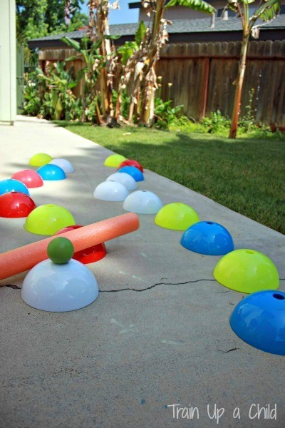 Pool Noodle Obstacle Course