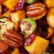 Go For Roasted Brussels Sprouts, Cinnamon Butternut Squash, Pecans, And Cranberries