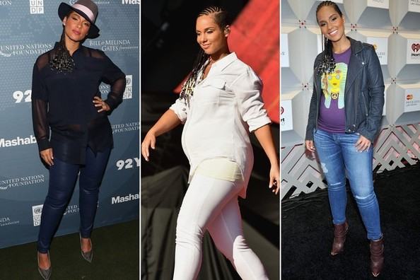 Alicia Keys' Downtown Maternity Style