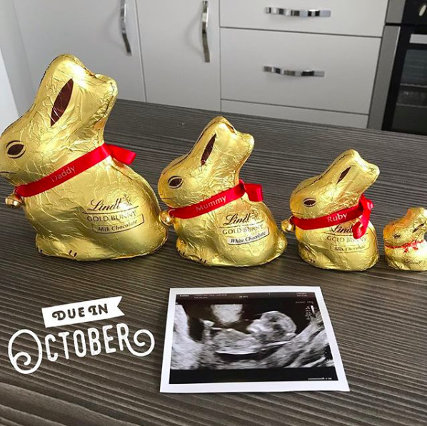 Easter Pregnancy Reveal; Pregnancy Announcement; Anoucement Onesie; Bunny Baby Reveal; Grandparent reveal